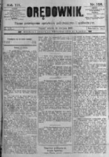 Orędownik: pismo poświęcone sprawom politycznym i spółecznym. 1889.08.27 R.19 nr195