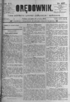Orędownik: pismo poświęcone sprawom politycznym i spółecznym. 1889.08.29 R.19 nr197
