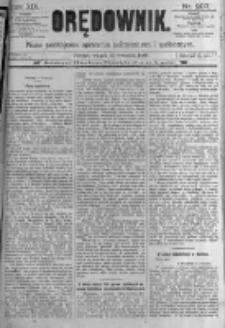 Orędownik: pismo poświęcone sprawom politycznym i spółecznym. 1889.09.10 R.19 nr207