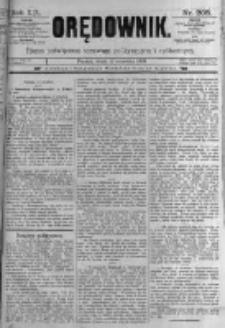 Orędownik: pismo poświęcone sprawom politycznym i spółecznym. 1889.09.11 R.19 nr208