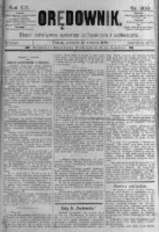 Orędownik: pismo poświęcone sprawom politycznym i spółecznym. 1889.09.12 R.19 nr209