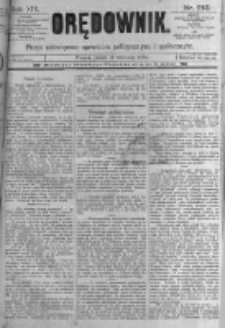 Orędownik: pismo poświęcone sprawom politycznym i spółecznym. 1889.09.13 R.19 nr210