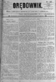 Orędownik: pismo poświęcone sprawom politycznym i spółecznym. 1889.09.14 R.19 nr211