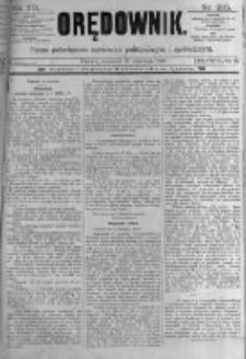 Orędownik: pismo poświęcone sprawom politycznym i spółecznym. 1889.09.19 R.19 nr215