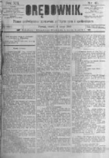 Orędownik: pismo poświęcone sprawom politycznym i spółecznym. 1889.02.19 R.19 nr41
