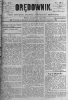 Orędownik: pismo poświęcone sprawom politycznym i spółecznym. 1889.05.30 R.19 nr124