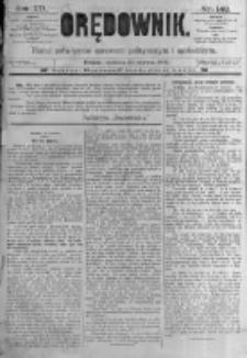 Orędownik: pismo poświęcone sprawom politycznym i spółecznym. 1889.06.23 R.19 nr142