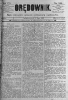 Orędownik: pismo poświęcone sprawom politycznym i spółecznym. 1889.07.21 R.19 nr165