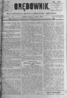 Orędownik: pismo poświęcone sprawom politycznym i spółecznym. 1889.08.03 R.19 nr176