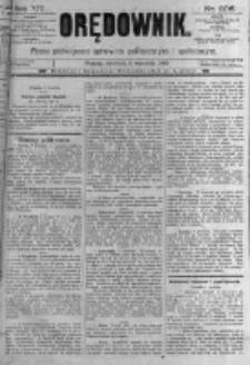 Orędownik: pismo poświęcone sprawom politycznym i spółecznym. 1889.09.08 R.19 nr206