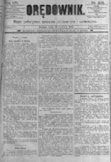 Orędownik: pismo poświęcone sprawom politycznym i spółecznym. 1889.09.18 R.19 nr214