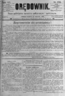 Orędownik: pismo poświęcone sprawom politycznym i spółecznym. 1889.09.22 R.19 nr218