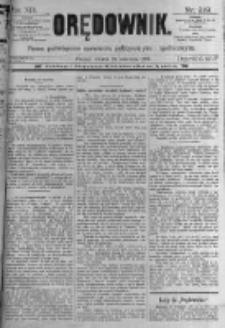 Orędownik: pismo poświęcone sprawom politycznym i spółecznym. 1889.09.24 R.19 nr219