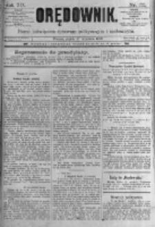 Orędownik: pismo poświęcone sprawom politycznym i spółecznym. 1889.09.27 R.19 nr222