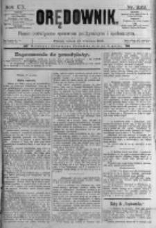 Orędownik: pismo poświęcone sprawom politycznym i spółecznym. 1889.09.28 R.19 nr223