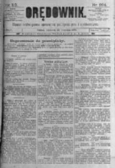 Orędownik: pismo poświęcone sprawom politycznym i spółecznym. 1889.09.29 R.19 nr224