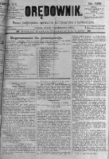 Orędownik: pismo poświęcone sprawom politycznym i spółecznym. 1889.10.01 R.19 nr225
