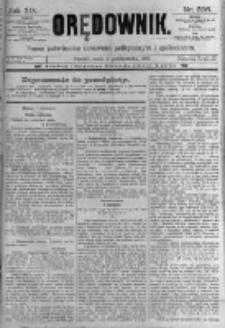 Orędownik: pismo poświęcone sprawom politycznym i spółecznym. 1889.10.02 R.19 nr226
