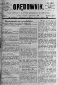 Orędownik: pismo poświęcone sprawom politycznym i spółecznym. 1889.10.03 R.19 nr227