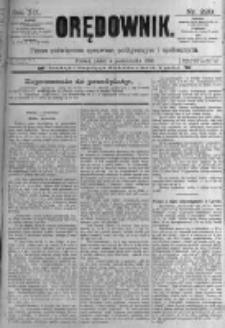 Orędownik: pismo poświęcone sprawom politycznym i spółecznym. 1889.10.04 R.19 nr228