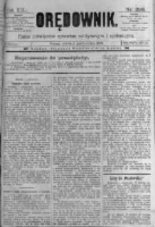 Orędownik: pismo poświęcone sprawom politycznym i spółecznym. 1889.10.05 R.19 nr229