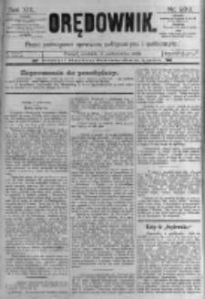 Orędownik: pismo poświęcone sprawom politycznym i spółecznym. 1889.10.06 R.19 nr230