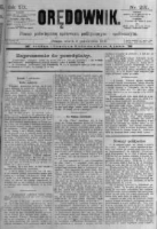 Orędownik: pismo poświęcone sprawom politycznym i spółecznym. 1889.10.08 R.19 nr231