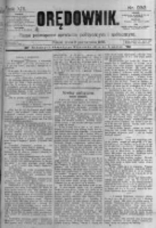 Orędownik: pismo poświęcone sprawom politycznym i spółecznym. 1889.10.09 R.19 nr232