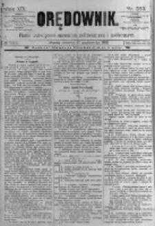 Orędownik: pismo poświęcone sprawom politycznym i spółecznym. 1889.10.17 R.19 nr239