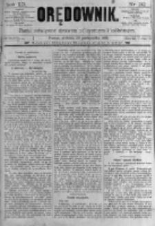 Orędownik: pismo poświęcone sprawom politycznym i spółecznym. 1889.10.20 R.19 nr242