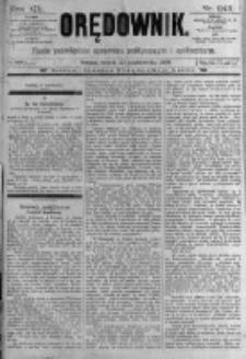 Orędownik: pismo poświęcone sprawom politycznym i spółecznym. 1889.10.22 R.19 nr243