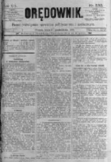 Orędownik: pismo poświęcone sprawom politycznym i spółecznym. 1889.10.30 R.19 nr250