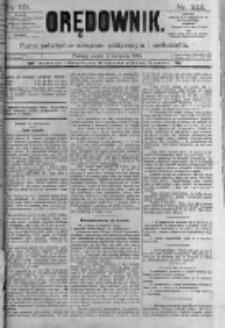 Orędownik: pismo poświęcone sprawom politycznym i spółecznym. 1889.11.01 R.19 nr252