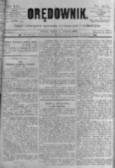 Orędownik: pismo poświęcone sprawom politycznym i spółecznym. 1889.11.05 R.19 nr254