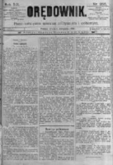 Orędownik: pismo poświęcone sprawom politycznym i spółecznym. 1889.11.06 R.19 nr255