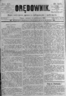 Orędownik: pismo poświęcone sprawom politycznym i spółecznym. 1889.10.24 R.19 nr245