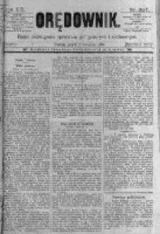 Orędownik: pismo poświęcone sprawom politycznym i spółecznym. 1889.11.08 R.19 nr257