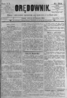 Orędownik: pismo poświęcone sprawom politycznym i spółecznym. 1889.11.10 R.19 nr259