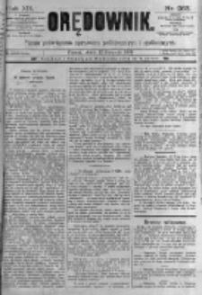 Orędownik: pismo poświęcone sprawom politycznym i spółecznym. 1889.11.15 R.19 nr263