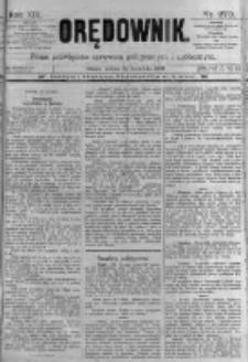 Orędownik: pismo poświęcone sprawom politycznym i spółecznym. 1889.11.23 R.19 nr270