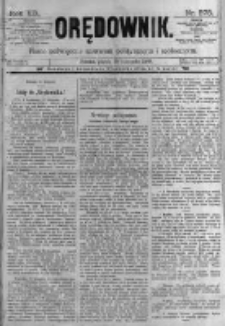 Orędownik: pismo poświęcone sprawom politycznym i spółecznym. 1889.11.29 R.19 nr275