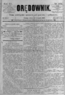 Orędownik: pismo poświęcone sprawom politycznym i spółecznym. 1889.11.30 R.19 nr276