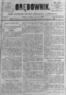 Orędownik: pismo poświęcone sprawom politycznym i spółecznym. 1889.12.01 R.19 nr277