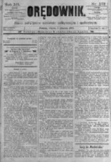 Orędownik: pismo poświęcone sprawom politycznym i spółecznym. 1889.12.03 R.19 nr278