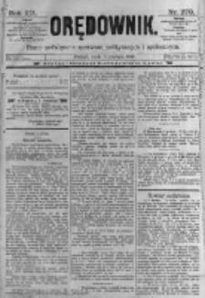 Orędownik: pismo poświęcone sprawom politycznym i spółecznym. 1889.12.04 R.19 nr279
