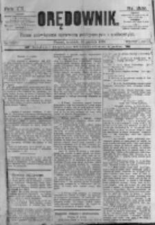 Orędownik: pismo poświęcone sprawom politycznym i spółecznym. 1889.12.15 R.19 nr289