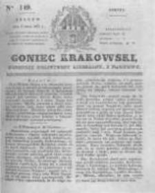 Goniec Krakowski: dziennik polityczny, liberalny i naukowy. 1831.07.02 nr149