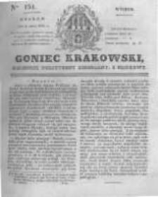 Goniec Krakowski: dziennik polityczny, liberalny i naukowy. 1831.07.05 nr151