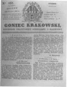 Goniec Krakowski: dziennik polityczny, liberalny i naukowy. 1831.07.12 nr157