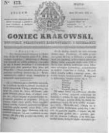 Goniec Krakowski: dziennik polityczny, historyczny i literacki. 1831.07.29 nr173